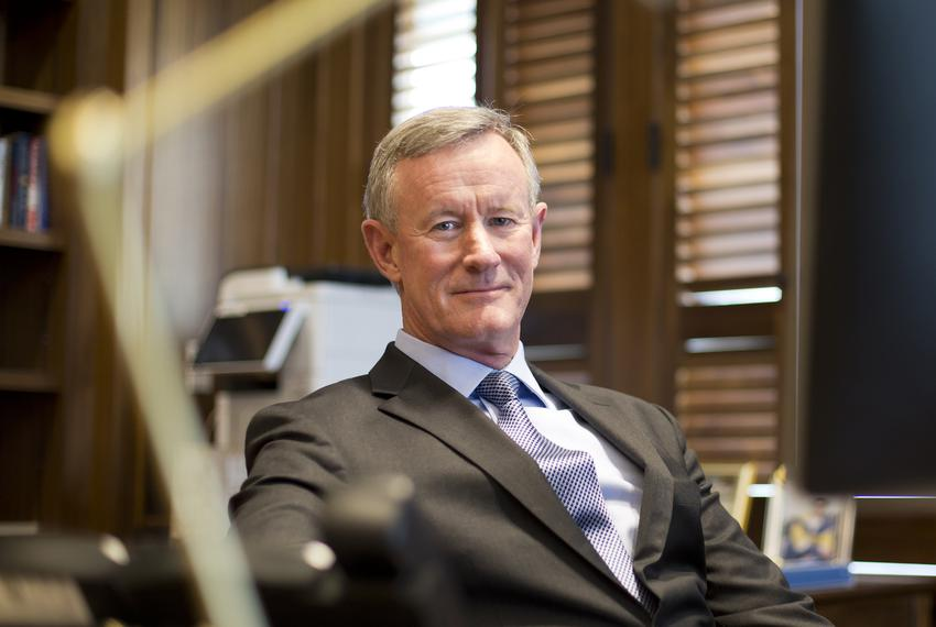 Chancellor of the UT System, William McRaven, at his office in downtown Austin May 22, 2018. McRaven announced in late 201...