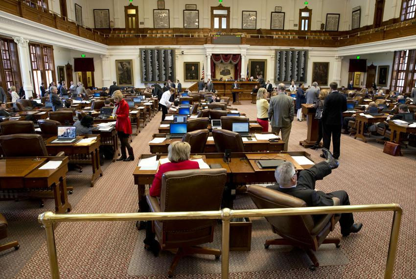 View of the Texas House floor during the budget debate on House Bill 1 on May 29, 2015.