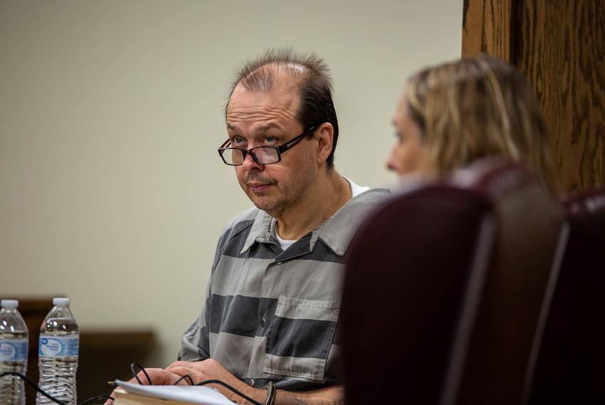 Robert Roberson in court for the review of his 2003 conviction in the death of his two-year-old daughter, Nikki Curtis, in P…