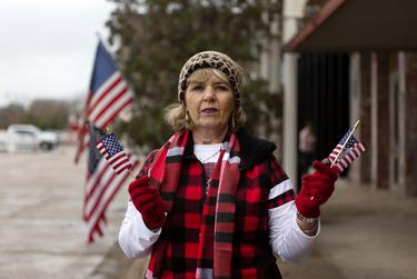 """Barbara Ray of Willis drove to Navasota to view the train that will pass with the remains of former President George H.W. Bush. """"To honor a great man is the main reason I'm here. I'm delighted that they're making this wonderful for us, because we need to honor a great guy,"""" said Ray."""