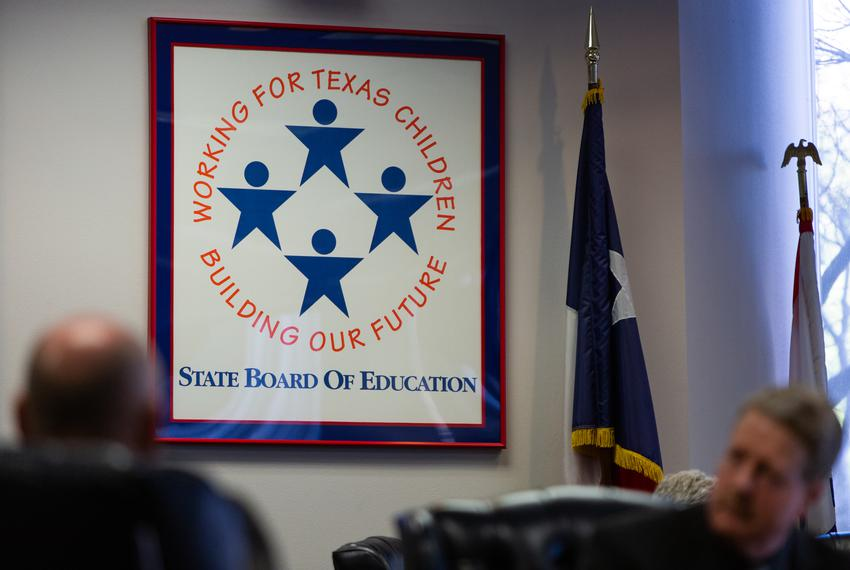 State Board of Education members meet in Austin on Jan. 29, 2019.