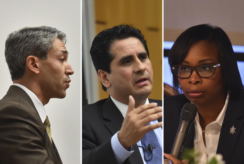 San Antonio mayoral candidates Ron Nirenberg, Manuel Medina and incumbent Ivy Taylor.