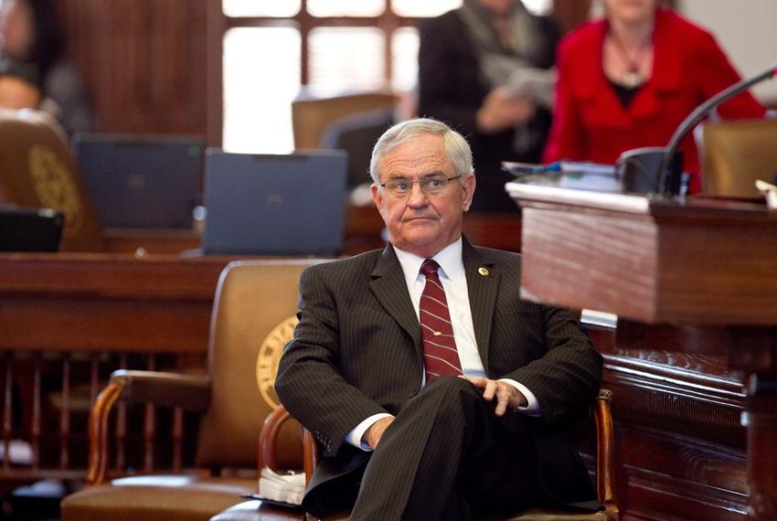 Rep. Jimmie Don Aycock, R-Killeen listens to HB5 debate in House on March 26th, 2013. There are currently 165 amendments to …
