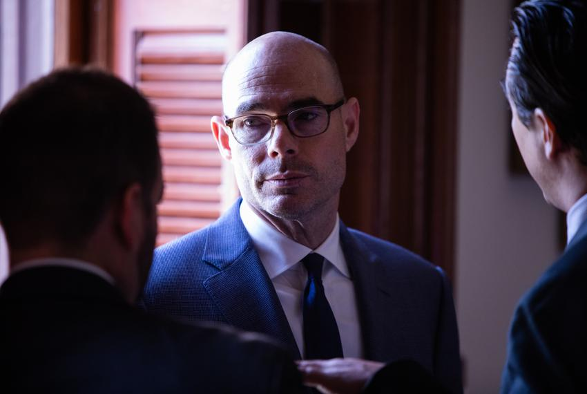 Speaker Dennis Bonnen in the House Chamber on March 27, 2019, the day the House will take up HB1, the 2020-21 budget plan.
