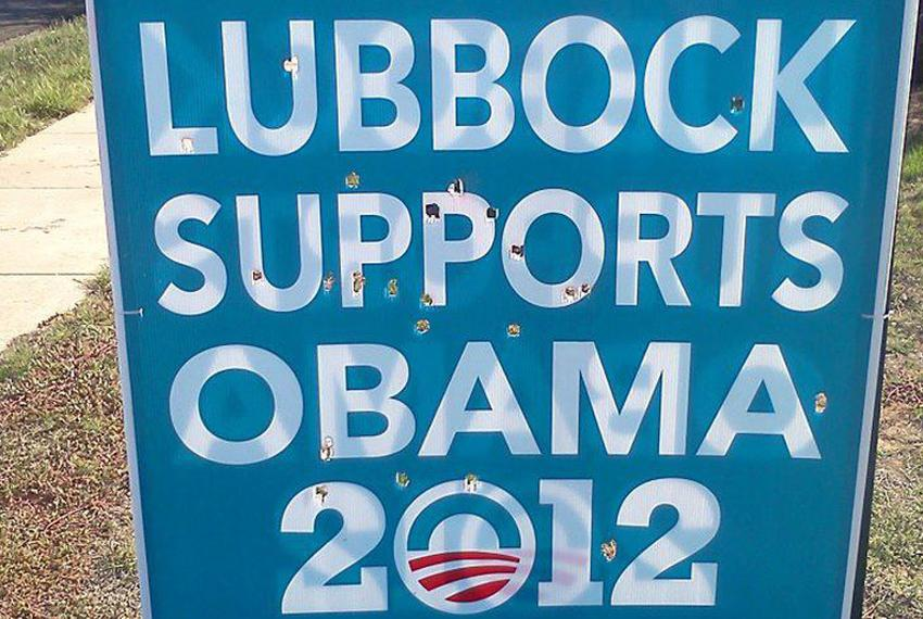 The Lubbock County Democratic Party says signs proclaiming support for Barack Obama have been defaced. Party officials say t…