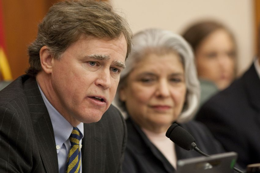 Rep. Dan Branch R-Dallas and Sen. Judith Zaffirini D-Laredo, co-chairs of the Joint Committee on Oversight of Higher Education Governance, Excellence & Transparency during meeting on September 21st, 2011