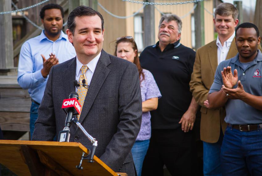 During a stop at the Spindletop Museum in Beaumont, U.S. Sen. Ted Cruz pitched his energy policy bill, which he calls the Am…