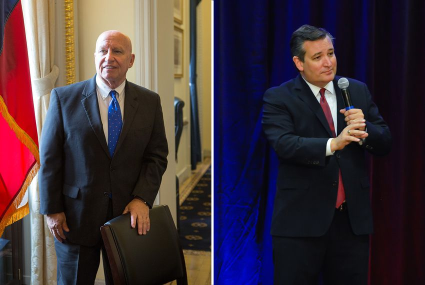 U.S. Rep. Kevin Brady, R-The Woodlands (left) and U.S. Sen. Ted Cruz.