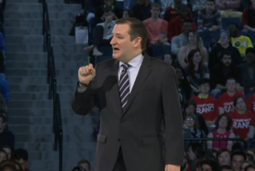 Ted Cruz announces he's running for president at Liberty University in Lynchburg, Virginia, on March 23, 2015.