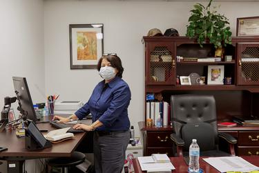 Esmeralda Guajardo, Health Administrator at Cameron County Public Health, at her office in San Benito on Sept. 22, 2020.