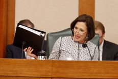 """State Sen. Lois Kolkhorst, R-Brenham, lays out Senate Bill 6, the so-called """"bathroom bill,"""" at a State Affairs Committee hearing on March 7, 2017."""