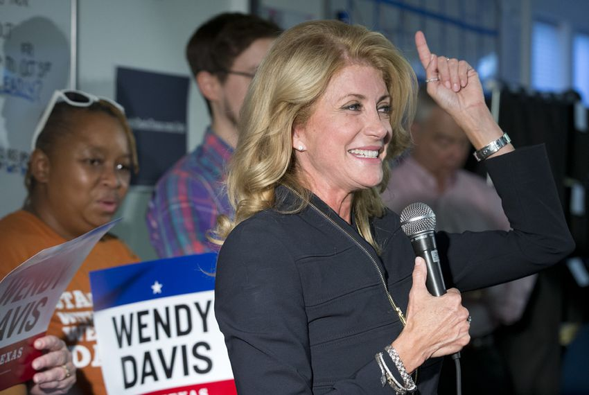 Despite a double-digit shortfall in most early polls, Democratic candidate Wendy Davis predicts victory in the race for Texas governor on Oct. 22, 2014.