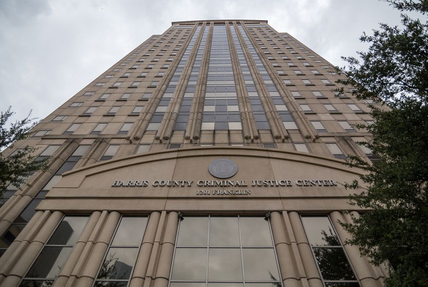 Hurricane Harvey severely damaged Houston's 20-story Criminal Justice Center, taking out dozens of courtrooms, countless offices and enough holding cells to accommodate 900 inmates.