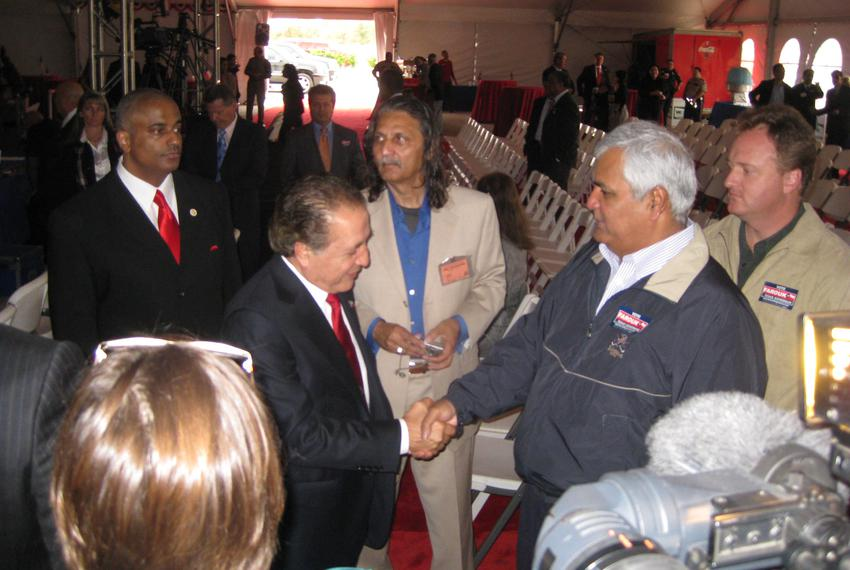 Farouk Shami at his gubernatorial announcement in Houston