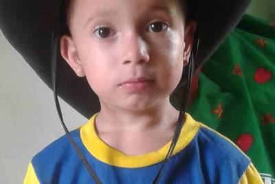 Brayan, now four, was separated from his father in South Texas. He's currently in a temporary foster care agency in New York City.