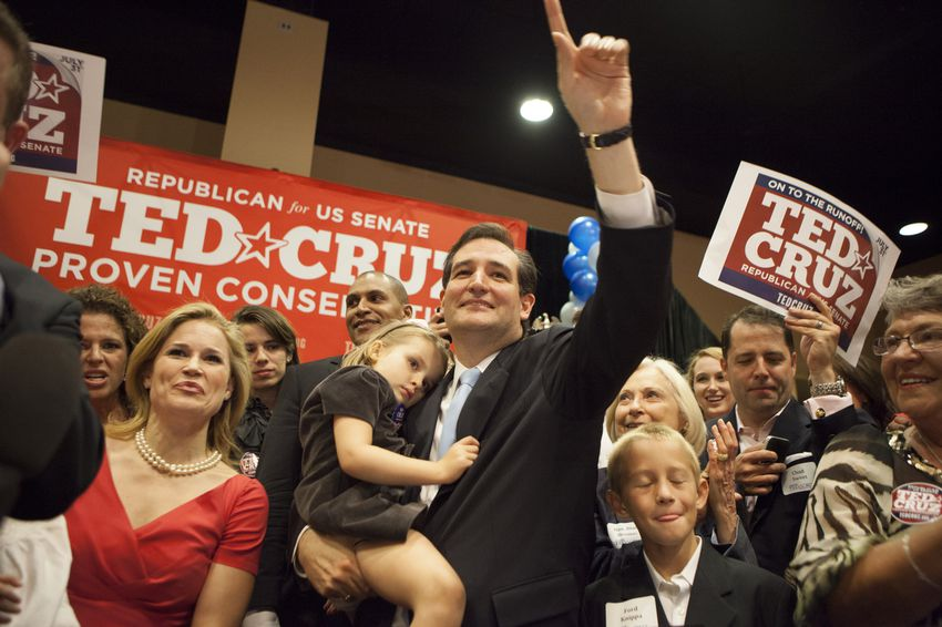 Ted Cruz is shown in Houston on July 31, 2012, after winning the Republican primary runoff for U.S. Senate.