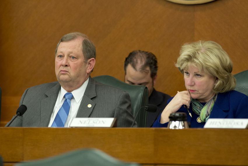 Chairman State Rep. John Otto, R-Dayton and Chairman Sen. Jane Nelson at Joint Committee on Appropriations May 20, 2015.