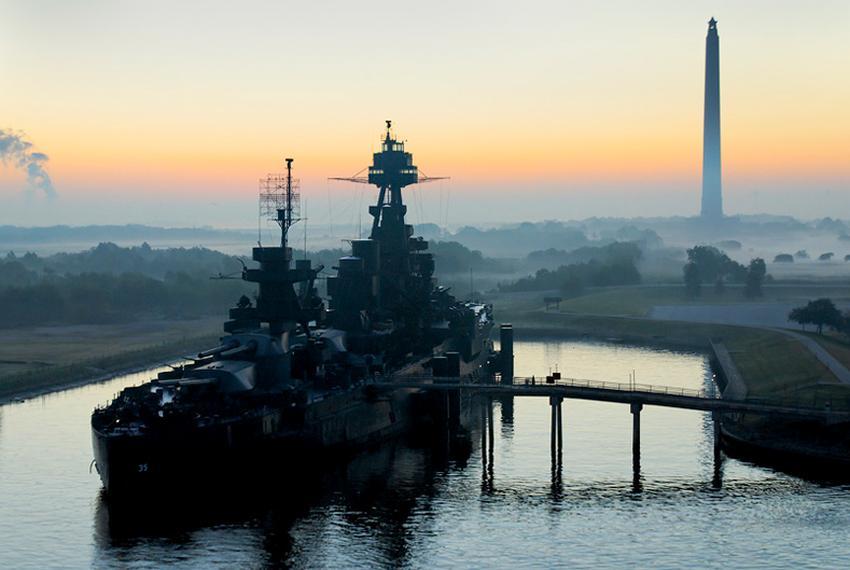 USS Battleship Texas and the San Jacinto monument