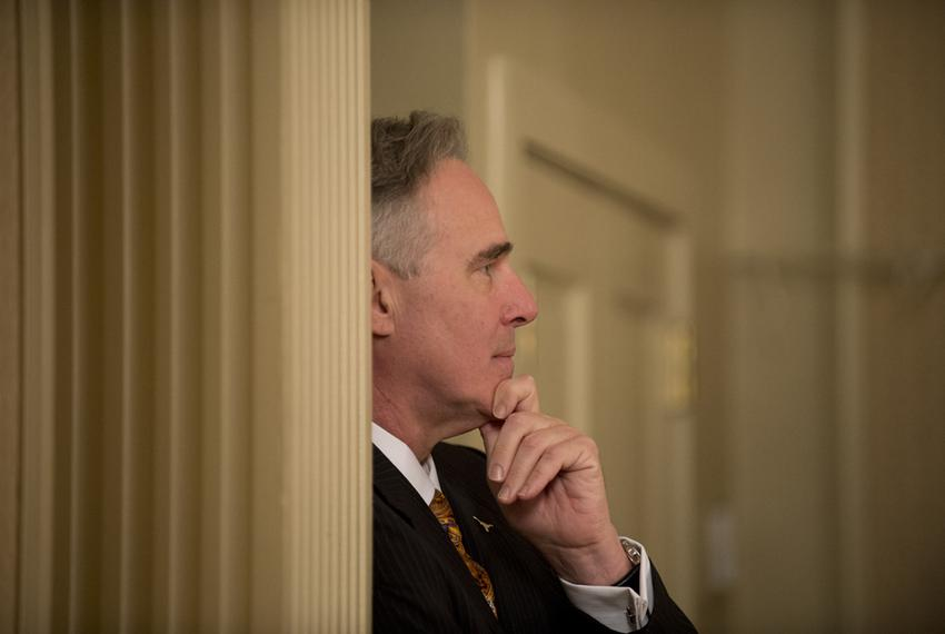 UT Athletic Director Steve Patterson waiting to go onstage at TribLive on May 15, 2014.