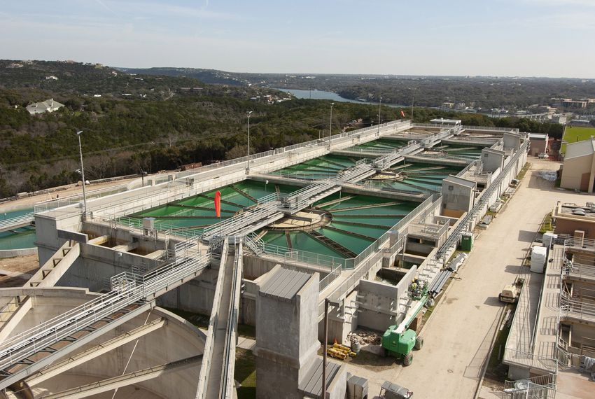 Austin's Ullrich water treatment plant off of Westlake Drive in west Austin on March 2, 2005.