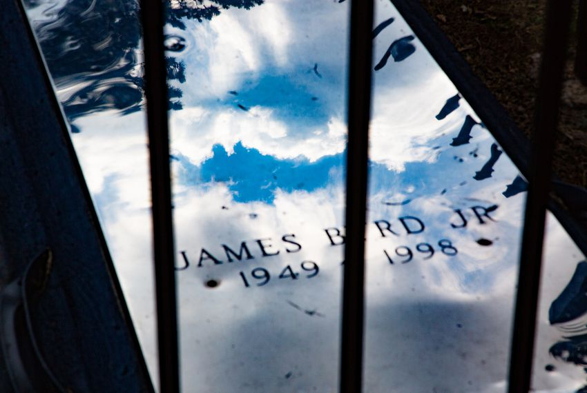 James Byrd Jr.'s grave in the Jasper City Cemetery in Texas. Byrd was murdered by three white men in 1998.