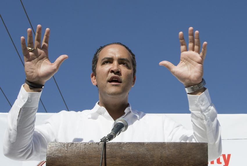 U.S. Rep. Will Hurd, R-Helotes, speaks at the Border Unity Rally on March 25, 2017.