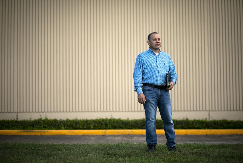 Small business owner Gerson Bonilla in Houston on Oct. 22, 2020. Bonilla, originally from El Salvador, runs a heating, venti…