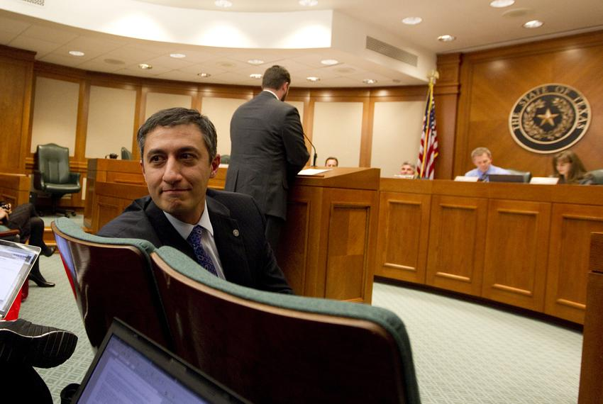 Rep. Giovanni Capriglione R-Soutlake waits to testify during a March 14th House Homeland Security & Public Safety committee …