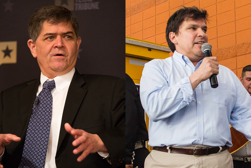 U.S. Reps. Filemon Vela, D-Brownsville, and Vincente Gonzalez, D-McAllen.