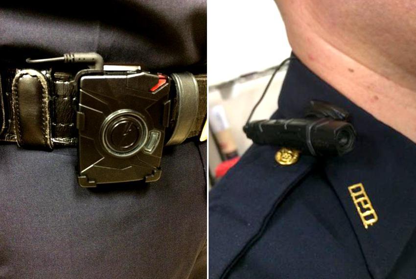 Police body camera hardware.