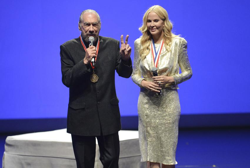 Billionaire businessman John Paul DeJoria and wife Eloise Broady DeJoria at the 2017 Texas Medal of Arts Awards at the Bas...