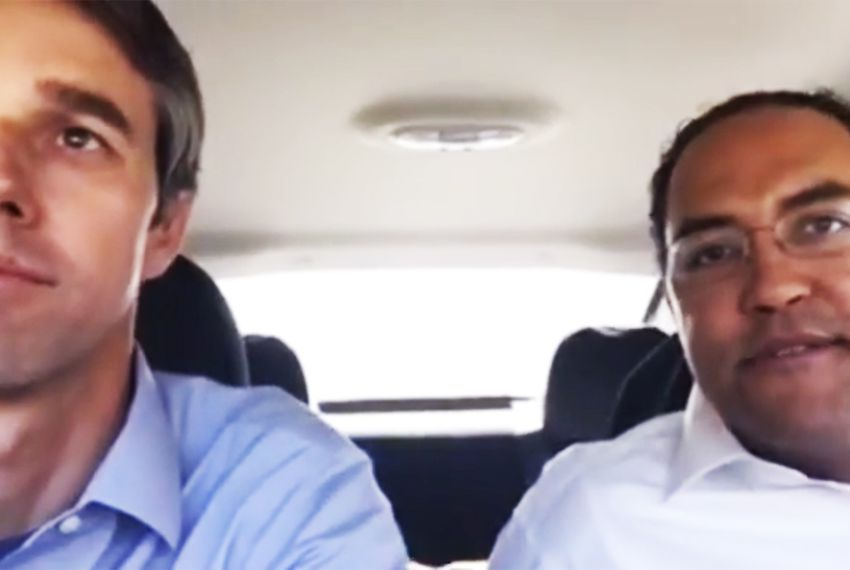 U.S. Reps. Beto O'Rourke (left), D-El Paso, and Will Hurd, R-Helotes, completed their road trip from Texas to Washington, D.C., on March 15, 2017.
