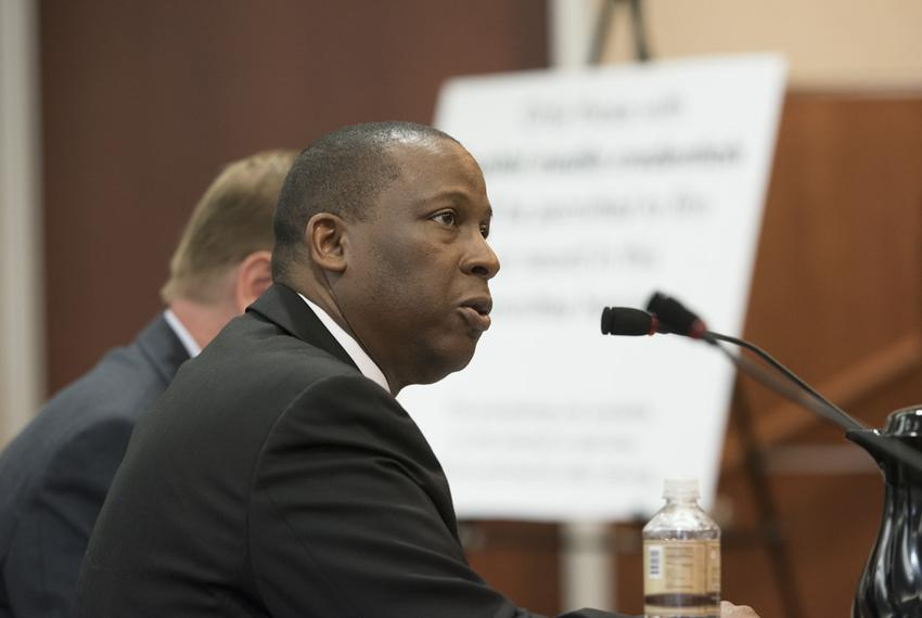 Charles Smith, executive commissioner of the Texas Health and Human Services Commission, testified Aug. 15, 2016, before t...