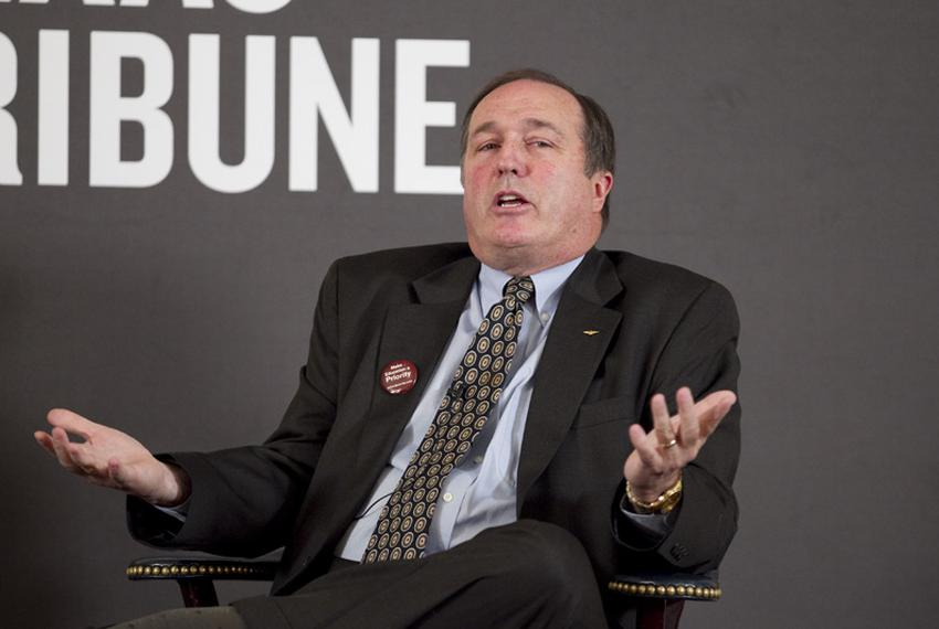 Rep. Rob Eissler (R-The Woodlands) discusses K-12 education issues at TribLive on February 3, 2011.