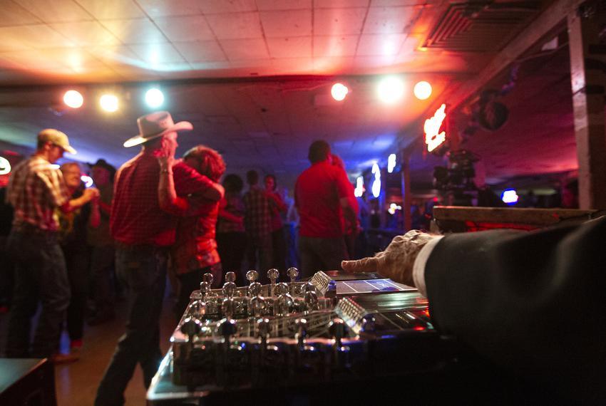 People dancing at the Broken Spoke in Austin.