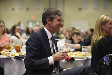 Former U.S. Rep. Beto O'Rourke was honored at the El Pasoan of the Year ceremony Feb. 19.