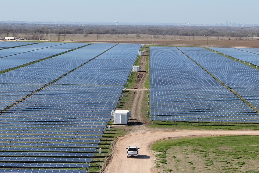 The Webberville Solar Project near Austin.