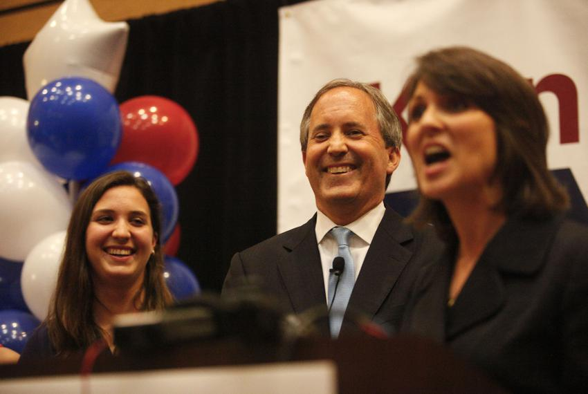State Sen. Ken Paxton, the Republican nominee for attorney general, celebrated his GOP primary win with supporters on May ...