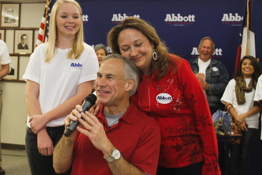 Attorney General Greg Abbott spoke to supporters in Austin on Nov. 9, 2013, after officially filing for the 2014 gubernato...