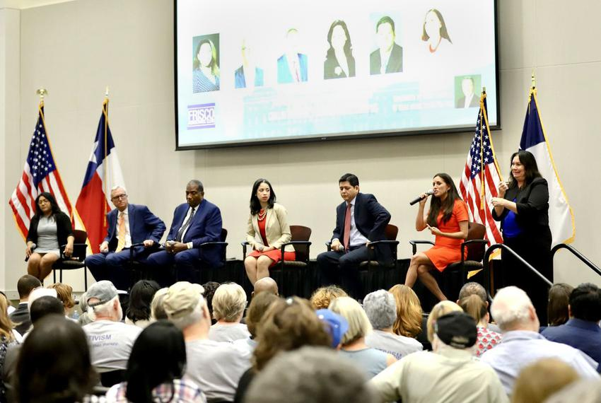 Democratic candidates for U.S. Senate gave their pitches to a gathering of North Texas Democratic groups at Collin County Co…
