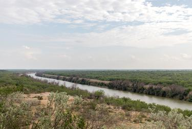 The view of the Rio Grande River from Gerardo Vargas' property on June 23, 2021.