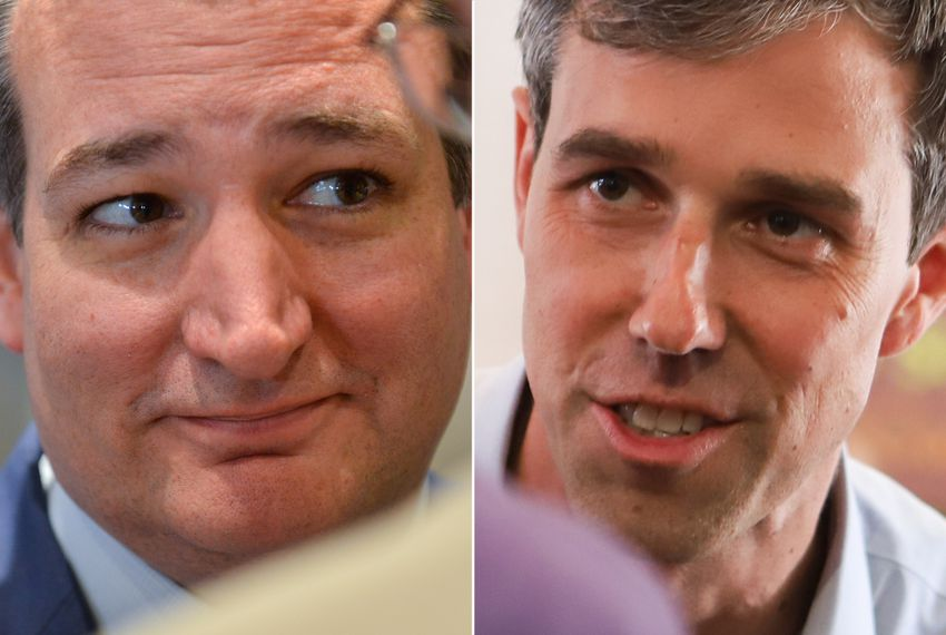 U.S. Sen. Ted Cruz (left) and U.S. Rep Beto O'Rourke, D-El Paso.