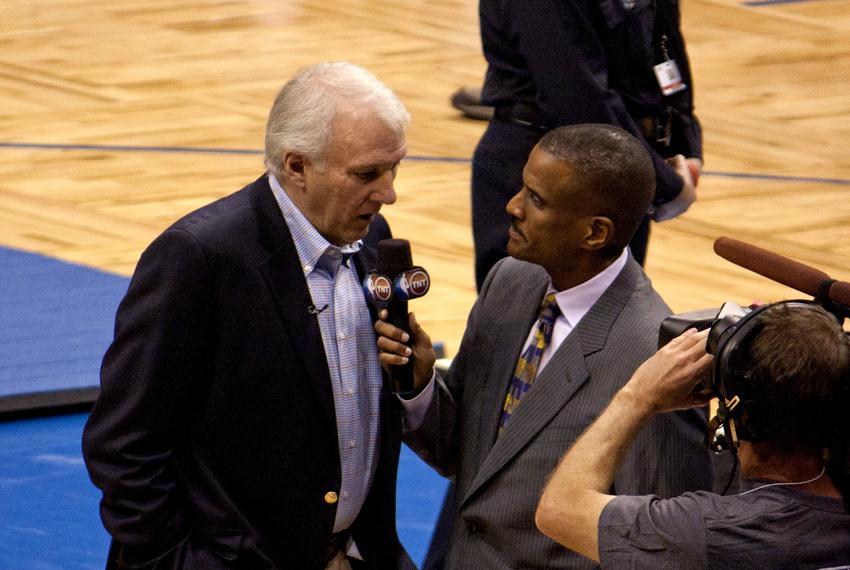 Spurs coach Gregg Popovich in Florida in 2010.
