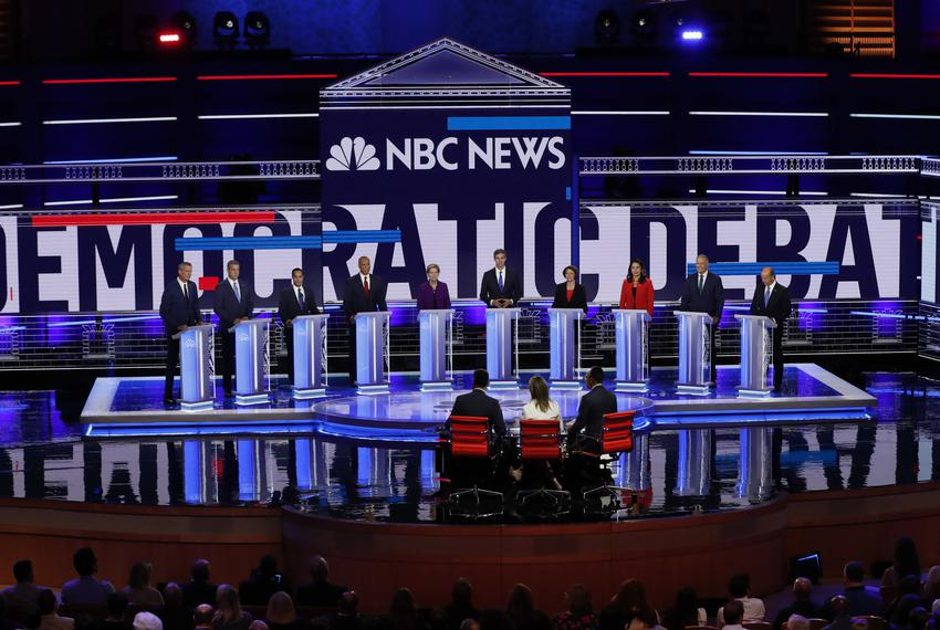 Democratic 2020 presidential candidates participate in the first U.S. 2020 presidential election Democratic candidates deb...