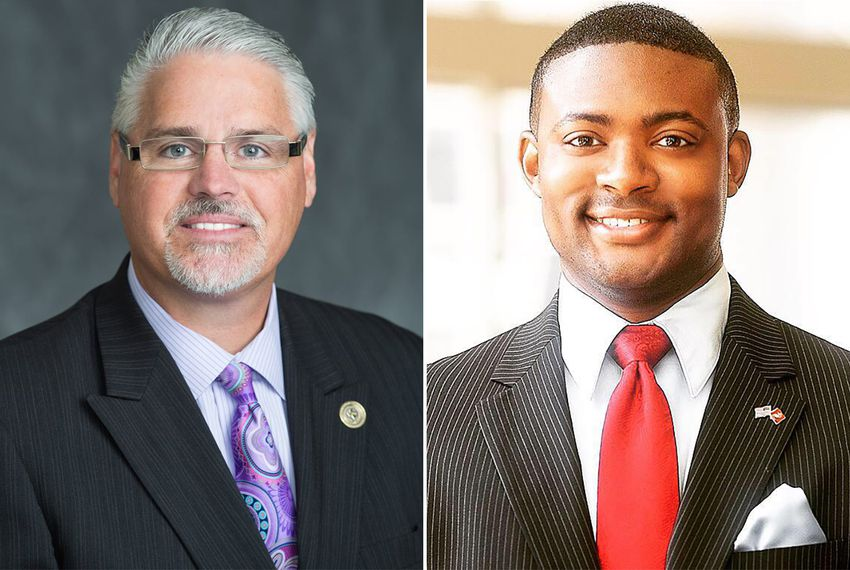 State Rep. Dan Huberty, R-Houston (left), and his GOP primary challenger, Reginald Clyde Grant, Jr.