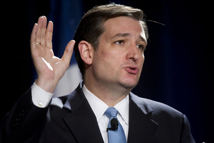U.S. Senate candidate Ted Cruz during final comments at an Austin debate on January 12, 2012.
