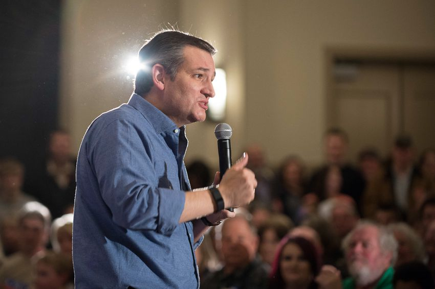 U.S. Sen. Ted Cruz fired up a crowd of evangelicals in West Des Moines, Iowa, on Jan. 27, 2016, ahead of the state's Feb. 1 Republican presidential caucus, which Cruz won.