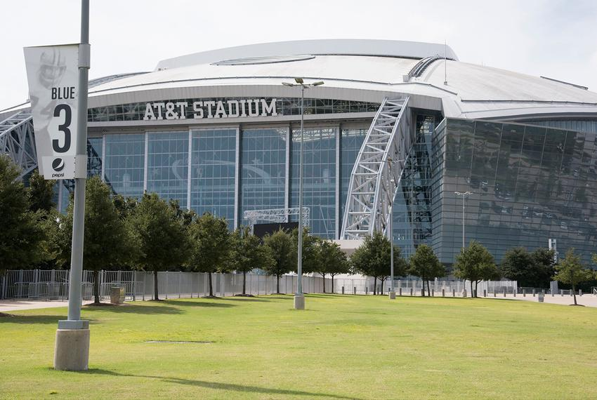 AT&T Stadium in Arlington, home to the Dallas Cowboys, on October 25, 2016.