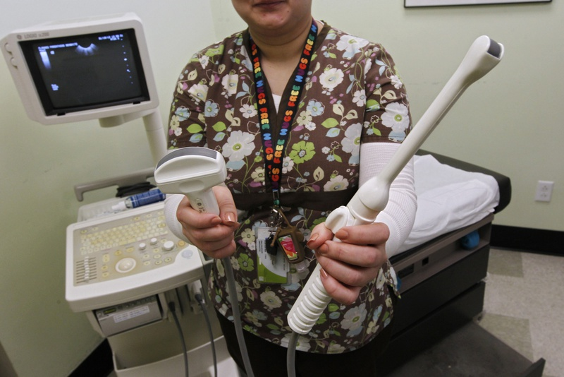 Two sonogram tools used at a Planned Parenthood clinic providing abortions in Austin.