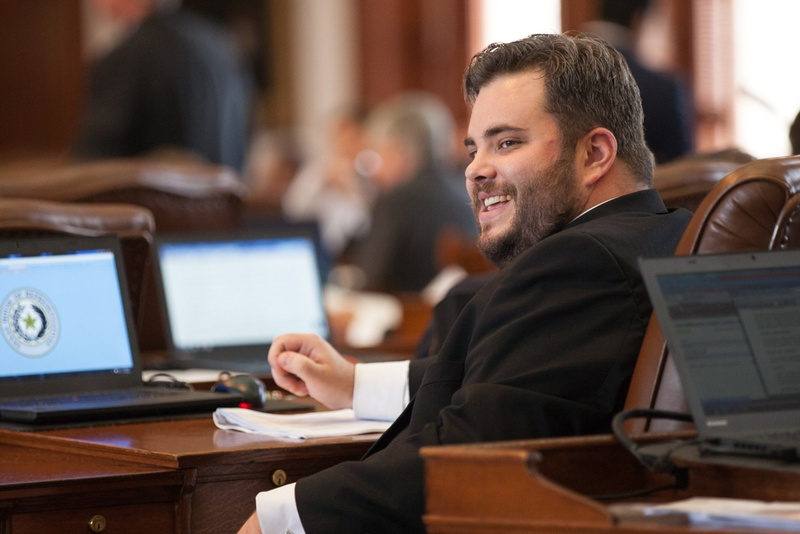 State Rep. Jonathan Stickland, R-Bedford, on the House floor on May 7, 2015.